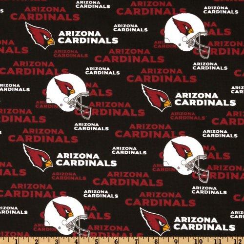 Cotton NFL Arizona Cardinals Football Print Cotton Fabric By the Yard
