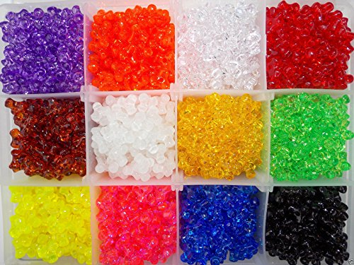 Tri Bead Rigging Kit 12 Colors in Storage Box 11mm Bead over 1,800 beads ()