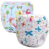 Storeofbaby 2pcs Baby Swim Diapers Reusable Adjustable Waterproof Fit 0-3 Years