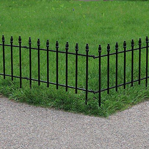 Sunnydaze 5 Piece Roman Border Fence Set, 18 Inches x 22 Inches Wide Each Piece, 9 Overall Feet by Sunnydaze Decor (Image #3)