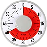 Round Mechanical Countdown Classroom Teaching Visual Timer Kitchen Timer with Magnet Alarm 60 Minutes Limit Counter for Cooking Baking Kid Houseworks Sports Office Meeting (Big)