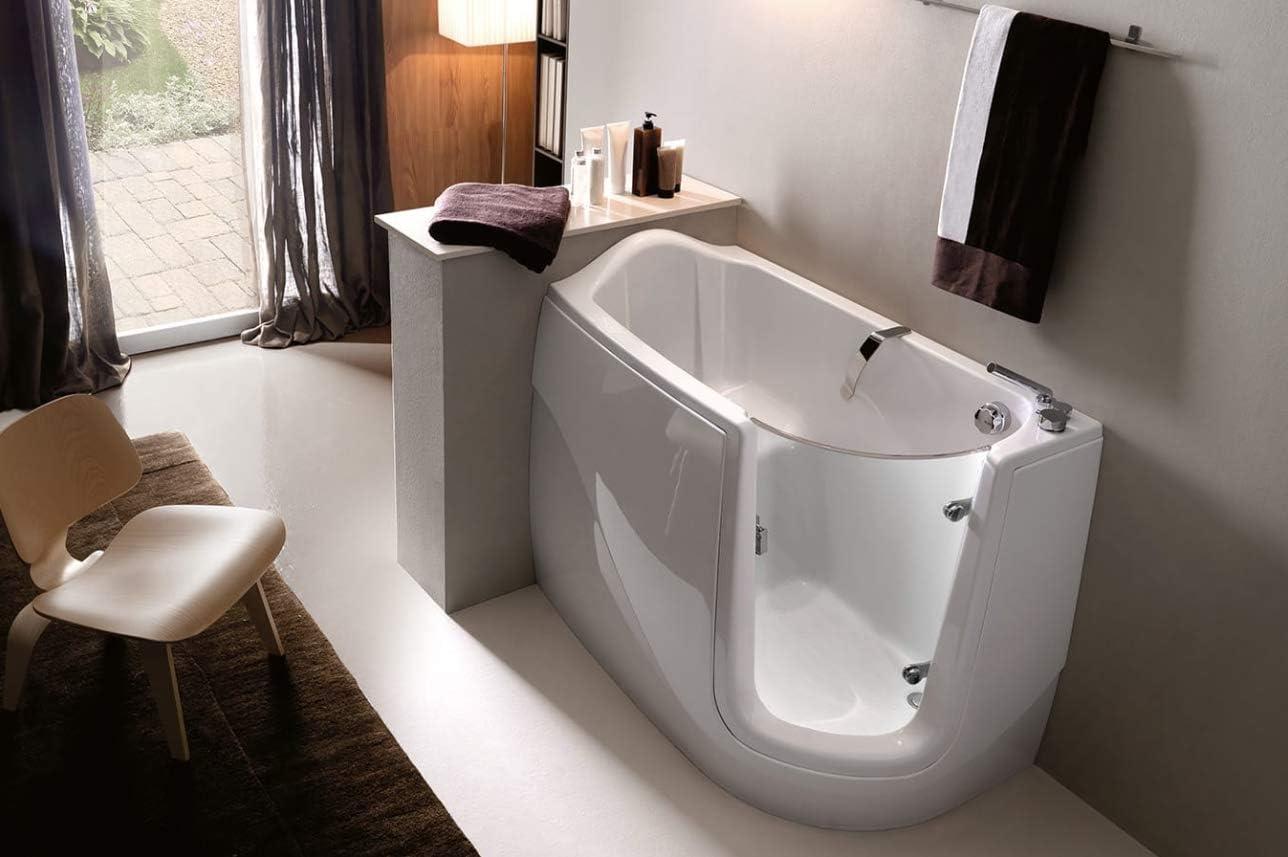 Bañera de fácil acceso con puerta de metacrilato, cromoterapia: Amazon.es: Bricolaje y herramientas
