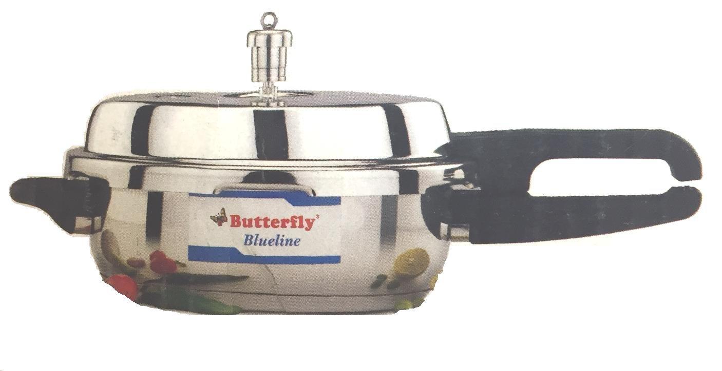Butterfly Blue Line Junior Pan Stainless Steel Pressure Cooker, 3.5-Liter