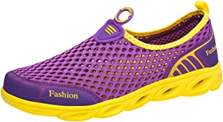 Schuhe Damen Ohne Schnürung Weich Sohle Elegant Sneaker Frauen Mesh Atmungsaktiv Casual Freizeitschuhe