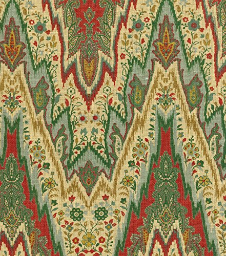 Amazon.com: WILLIAMSBURG BRAY FLAME STITCH CINNABAR 100% LINEN Multipurpose FABRIC: Kitchen & Dining