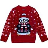 Tstars Cute Penguin Santa Ugly Christmas Sweater Holiday Boys Girls Toddler Sweater