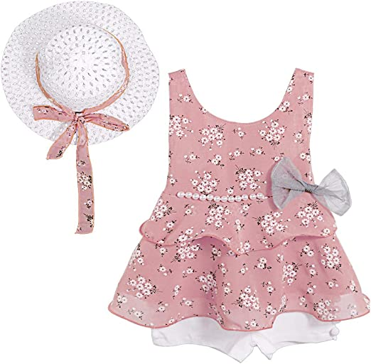 3pcs Toddler Baby Kid Girl Outfits Shirt Tops Floral Pants Clothes Set Summer US