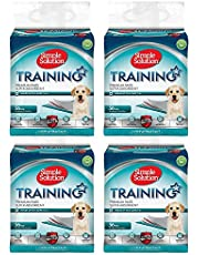 Simple Solution Premium Dog and Puppy Training Pads, 56 Pads (Pack of 4)