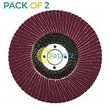 Dapetz ® 2 x Flap Sanding Discs 115mm 120 Grit Aluminium Oxide 4.5' Angle Grind