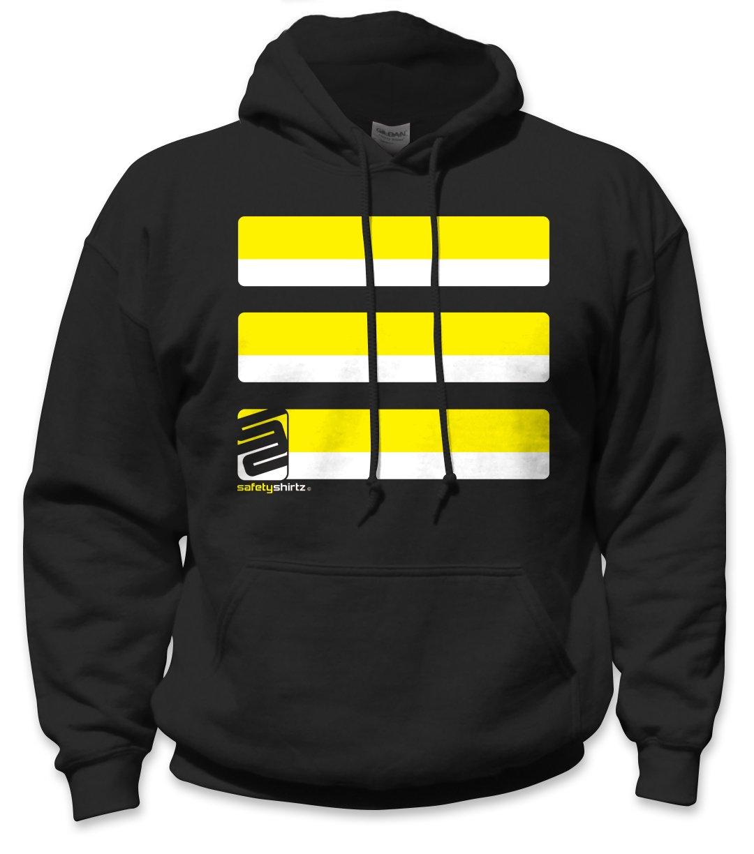SafetyShirtz Men's Basic Hooded Sweatshirt, Yellow/Black, Large