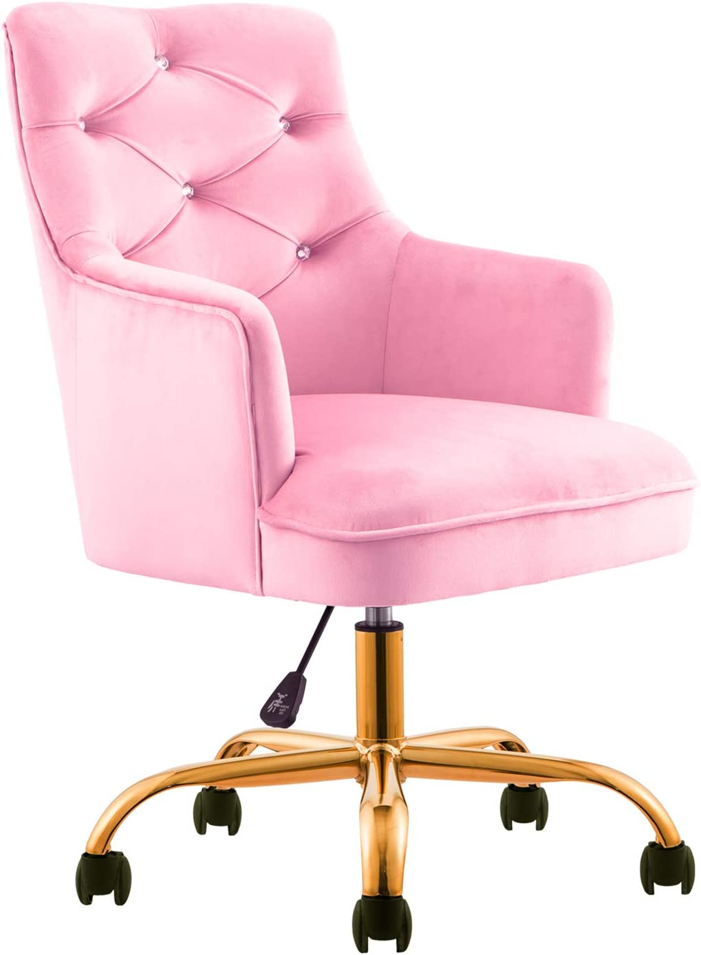 XIZZI Cute Desk Chair,Computer Chair, Adjustable Swivel Home Office Chair,  Office Chair with Wheels and Arms (Pink)