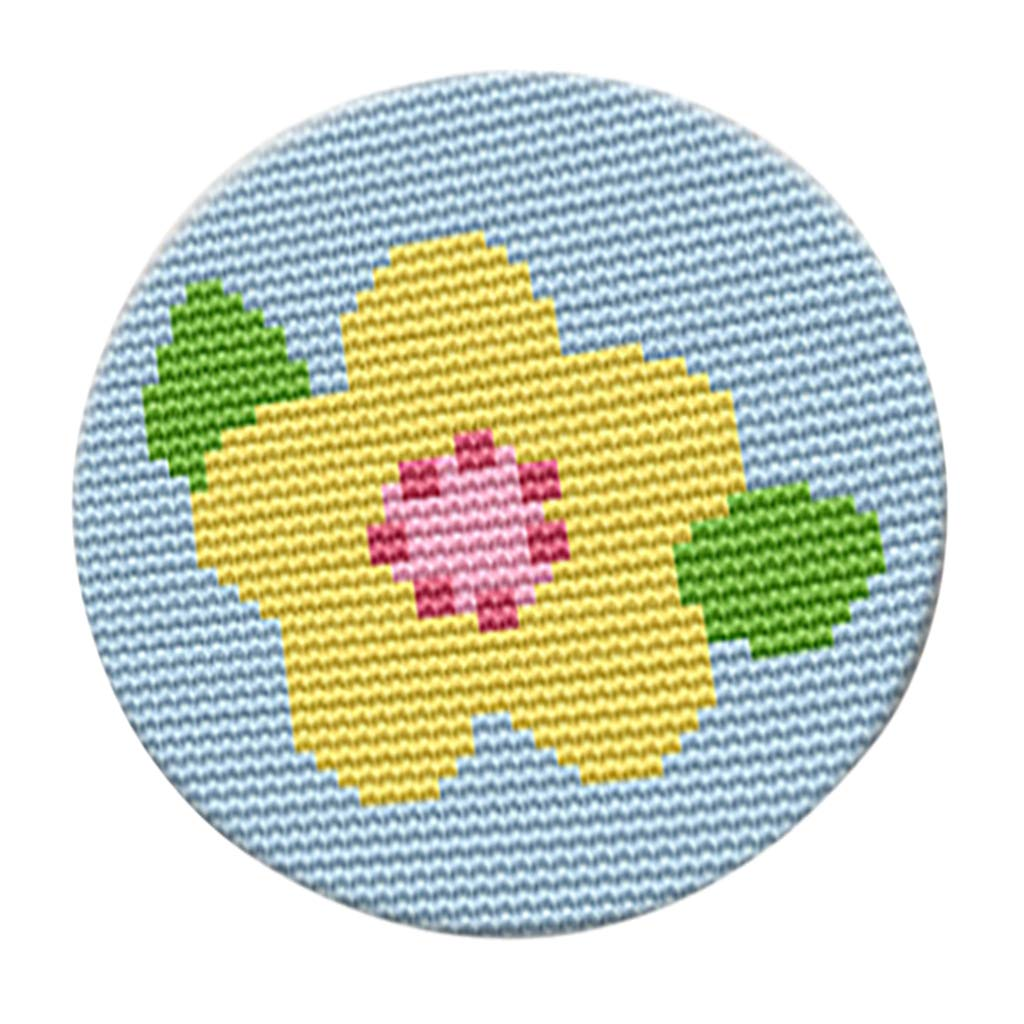 SM SunniMix Round Latch Hook Kits Rugs Cushion Carpet Embroidery Package for Boys Girls Butterfly