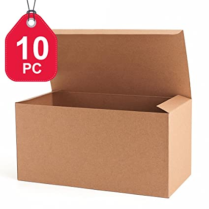 Amazon mesha recycled gift boxes 9x45x45 inch brown paper mesha recycled gift boxes 9x45x45 inch brown paper boxes 10pcs kraft favor negle Gallery
