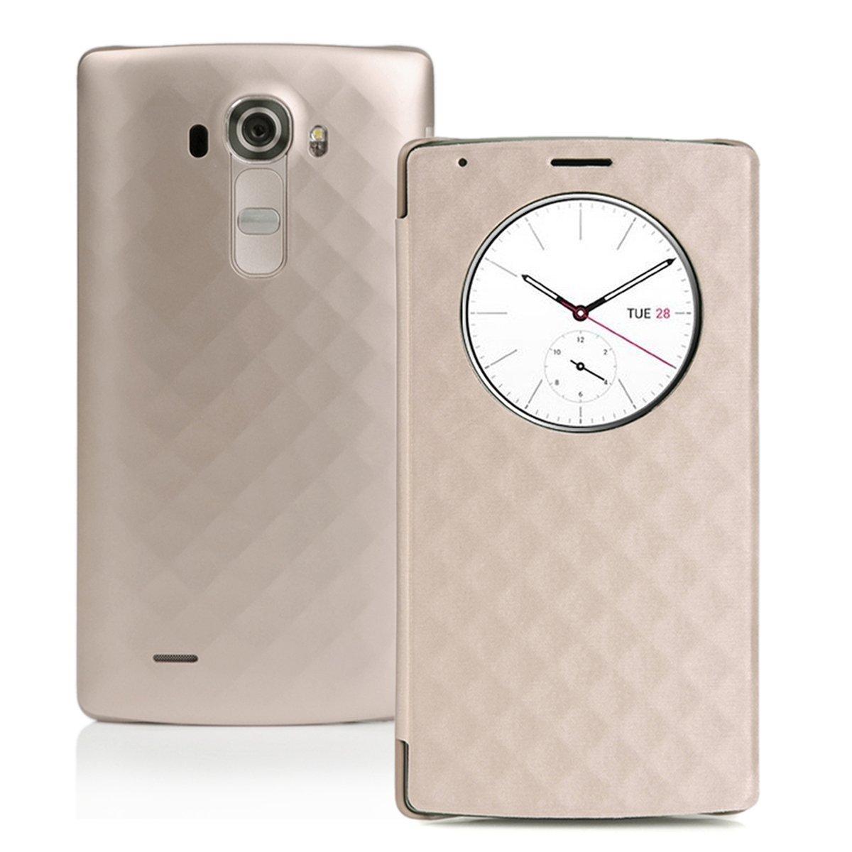 Estuche LG G4 , Estuche CHOETECH LG G4 Quick Circle Cargador Inalambrico Estuche Cargador Inalámbrico Qi , con Ventana de Despertarse/Dormir ...