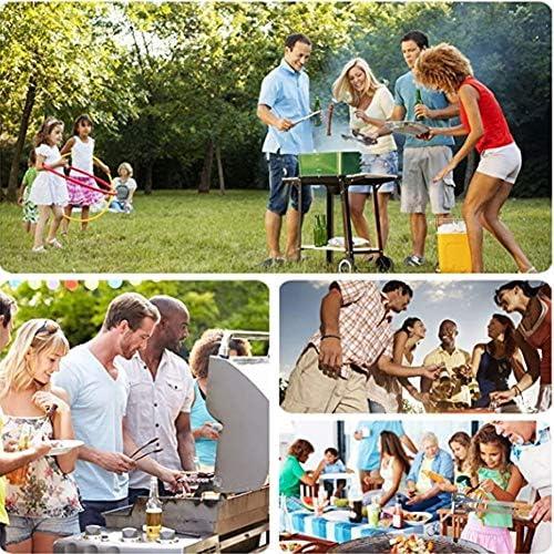 Nealpar Tappetini per Barbecue, Set da 10, Tappetino per Griglia Riutilizzabile Resistente al Calore E Facile da Pulire, per Utensili da Picnic All'aperto