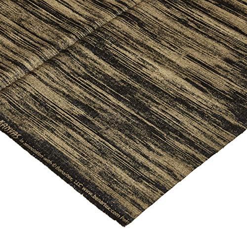 Benartex Kanvas Mixers Metallic Textured Stripe Black Gold Fabric by the Yard
