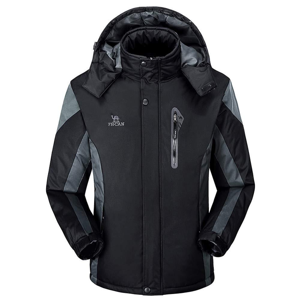 MAYOGO OverGröße Winter Outdoor-Kälteschutz-Jacke Jackets Ski-wear Freien Warm Abriebfest großen Mantel Daunenjacke Plus Samt Verdickt mit Kapuze for Herren und Damen