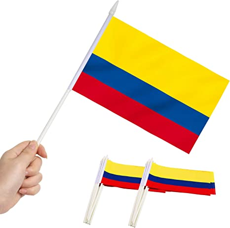 Anley Bandera en Miniatura Colombia - Mini Banderas Colombianas de 5
