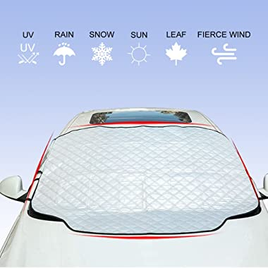 YANX Car Windshield Cover, Car Snow Cover Frost Windshield Cover with Magnetic Edges Snow, Ice, Frost Defense No Scratches(SC01)