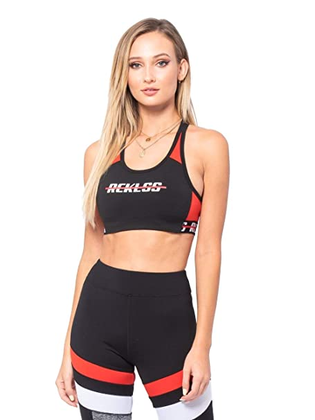 4403a65a363e9 Young and Reckless - Layla Sports Bra - Black Red - - Womens - Activewear -  Tops - at Amazon Women s Clothing store