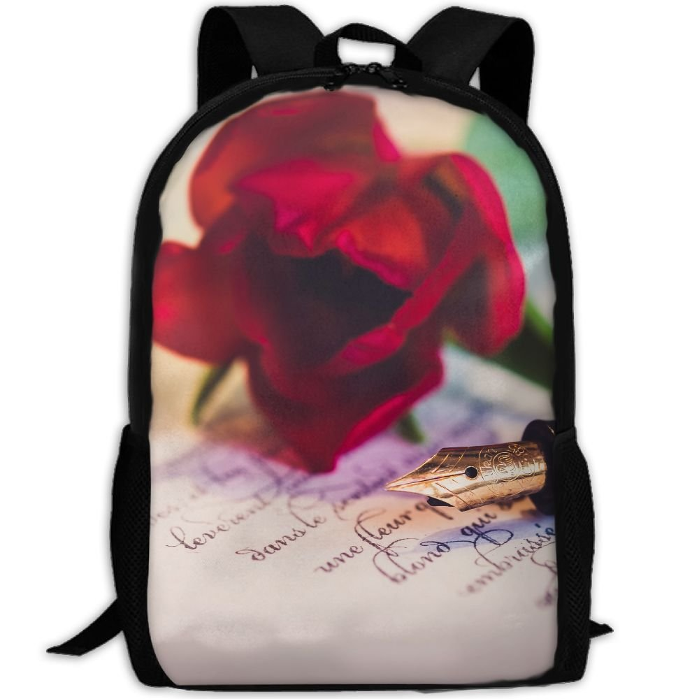 ZQBAAD Love Rose Luxury Print Men And Women's Travel Knapsack by ZQBAAD (Image #1)