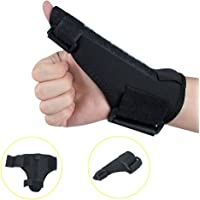 Denshine Thumb Splint, Airflow Wrist & Thumb Support Sports Reversible Thumb Stabilizer Thumb Splint Thumb Spica Support Brace for Pain, Sprains, Strains, Arthritis, Carpal Tunnel & Trigger Thumb Immobilizer, Fits Men Women Left and Right Hand