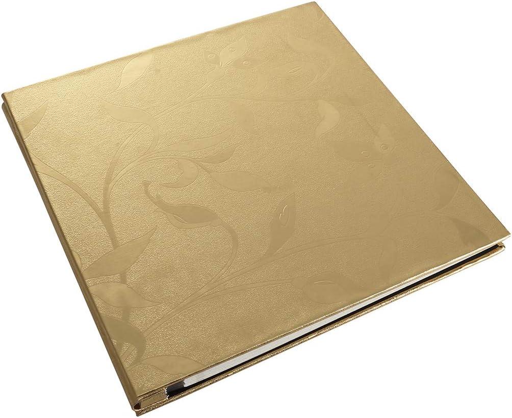 PU Leather Photo Album Memo Book Sticky Paste DIY Scrapbook with Heart Lock Gift