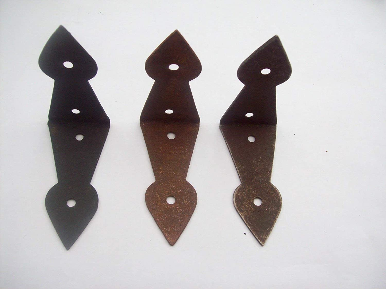 hierro antiguo, tama/ño grande Caja para ba/úl con 3 acabados Ironmongery World