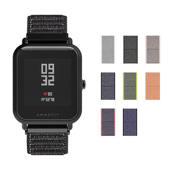 SIKAI CASE Correa de Reloj 20mm NATO Balística Reemplazo de Nylon Correas de Reloj Ajustable Band Nilón Tejido Bucles para Samsung Gear Sport ...