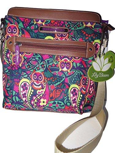 Lily Bloom OWL-ILVER TWIST Karma Bloom Nylon Buffy Crossbody Shoulder Bag -  10485889