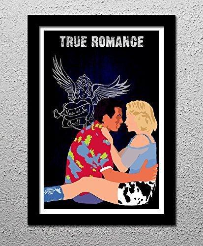 (True Romance - Christian Slater - Patricia Arquette - Original Minimalist Art Poster Print)