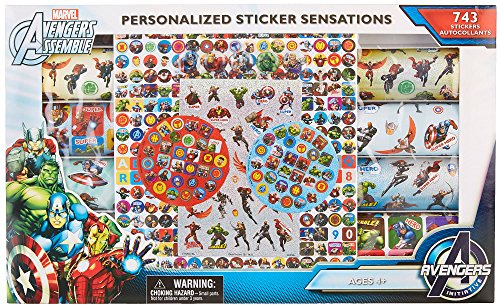 Marvel Avengers Assemble Personalized Sticker Sensation - 743 Stickers in window display box (Display Box Window)
