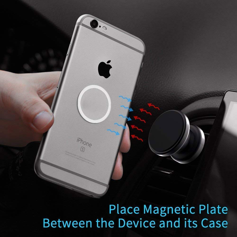 Perfect for Gifts M-Gear 4351677664 Strong Compact 360/° Magnetic Air Vent Cell Phone Holder for iPhone XR//XS//X//8//8 Plus//7//7 Plus and All Other Android Smartphones