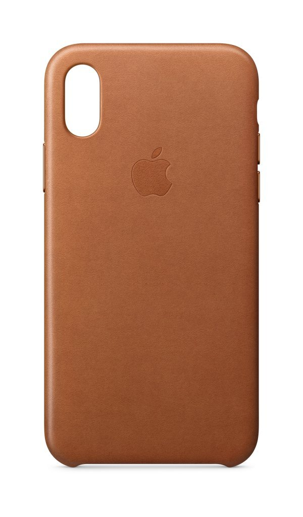 big sale d8e66 eb9a2 Apple Leather Case (for iPhone X) - Saddle Brown