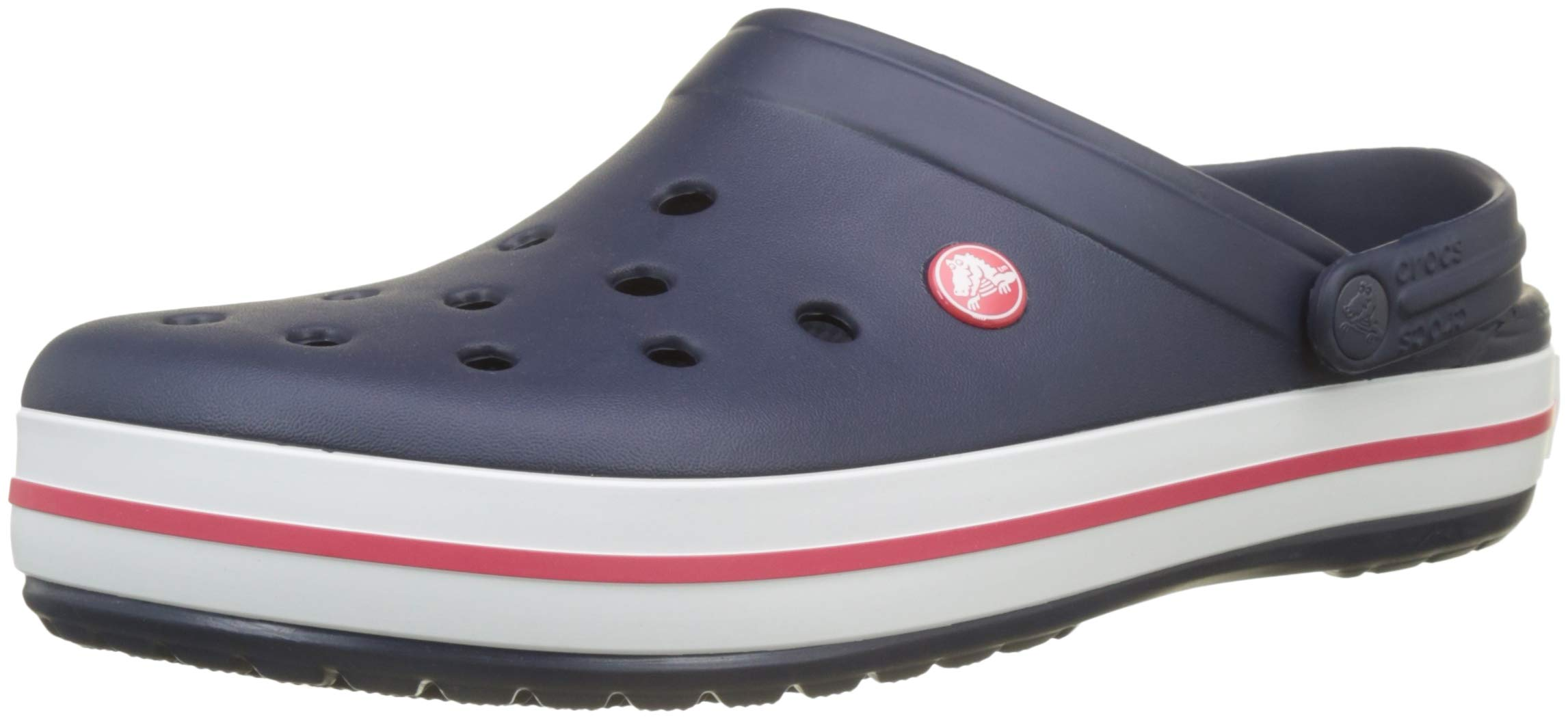 Crocs Unisex Crocband Clog, Navy, 6 US Men / 8 US Women