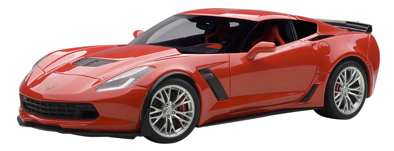 AUTOart – Modellino Chevrolet Corvette C7 Z06 – 2015 – Scala 1 18, 71262, Rosso