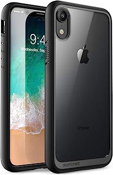 SUPCASE Unicorn Beetle Style Coque iPhone XR Transparente Antichoc de Protection Hybride pour iPhone XR 6,1 Pouces, Noir
