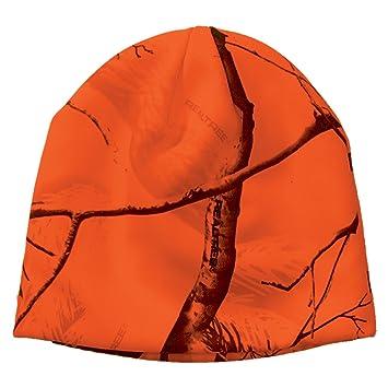 Realtree Licensed Camo Knit Hunting Beanie (Blaze Orange)  Amazon.co.uk   Sports   Outdoors ddf2ade3300