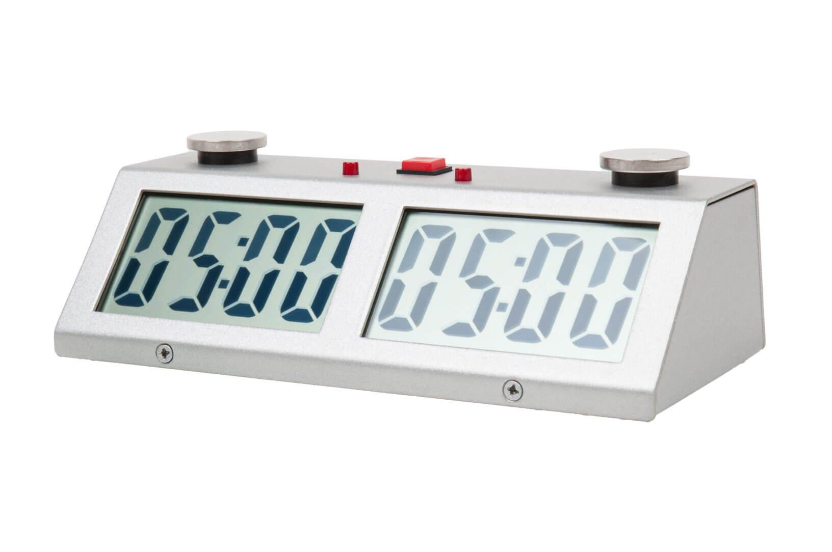 ZMart Pro Digital Chess Clock - Silver