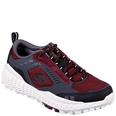 69d270efc3f Amazon.com   Skechers Monster Mens Red Leather/Canvas Low Top Lace Up  Sneakers Shoes   Shoes