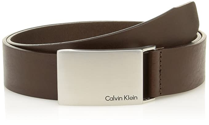 2498e299421 Calvin Klein Jeans Men s Mino Plaque Belt  Amazon.co.uk  Clothing