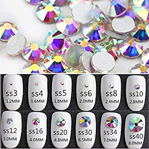 Amazon.com  Songoku123 QIAO Hot fix Rhinestones Iron On Rhinestones ... ab89df2b2201