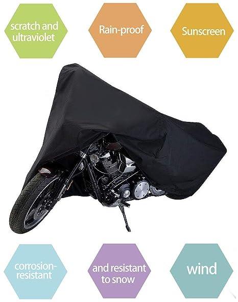 NOVSIGHT Motorbike Cover 210D Oxford Motorcycle Waterproof Heavy Duty...