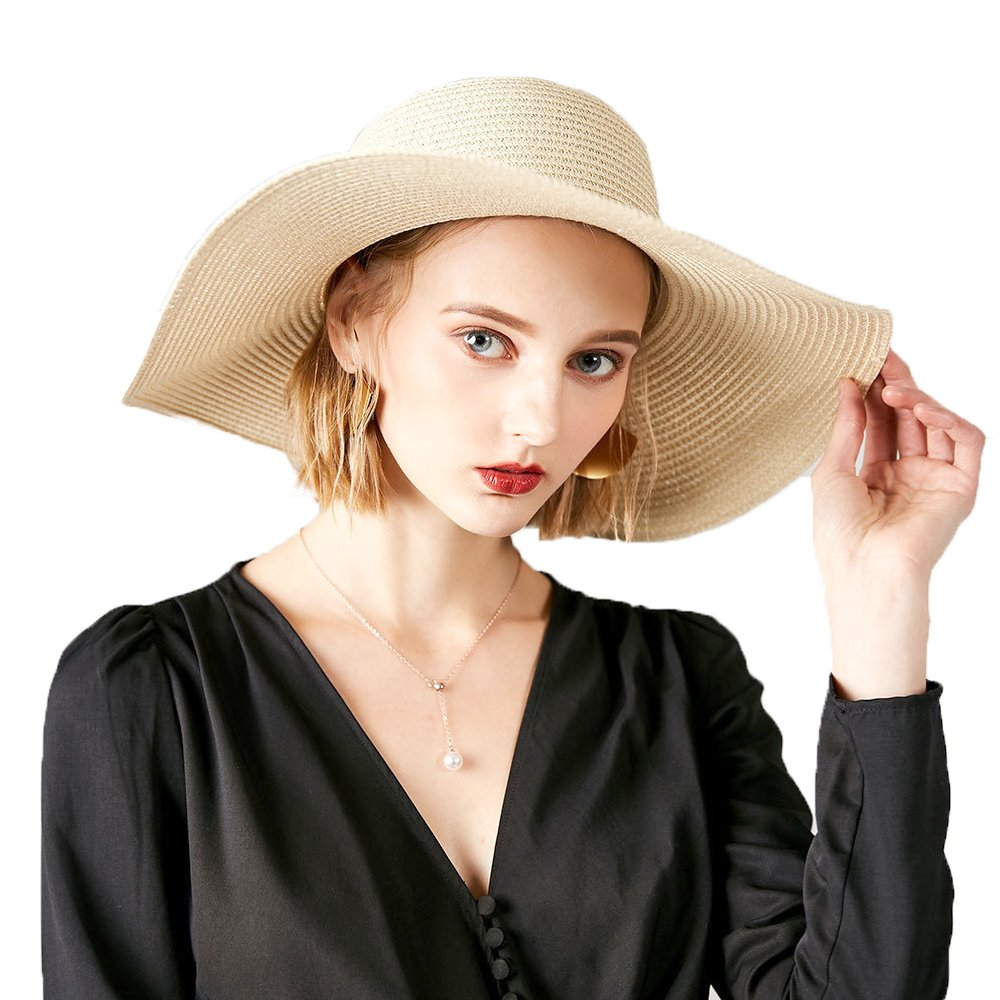 b44c29f8 Material: The beach straw hat for women and girls is made of material 100%  straw and a removable chin strap help to hold your hat in windy days