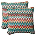 Pillow Perfect Indoor/Outdoor Nivala Corded Throw Pillow, 18.5-Inch, Blue, Set of 2 from Pillow Perfect