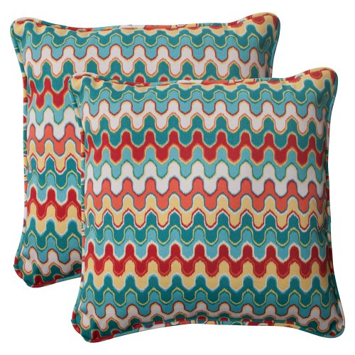 Pillow Perfect Indoor Outdoor Nivala Corded Throw Pillow, 18.5-Inch, Set of 2
