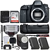 "Canon EOS 6D Mark II DSLR Camera (Body) + Canon BG-E21 Battery Grip for EOS 6D Mark II + Canon LP-E6N Replacement Battery Pack + Canon RC-6 Wireless Remote + 64GB Memory Card + 72"" Monopod + More"