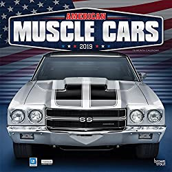 American Muscle Cars   Inch Monthly Square Wall Calendar With Foil Stamped Cover Usa Motor Ford Chevrolet Chrysler Oldsmobile Pontiac
