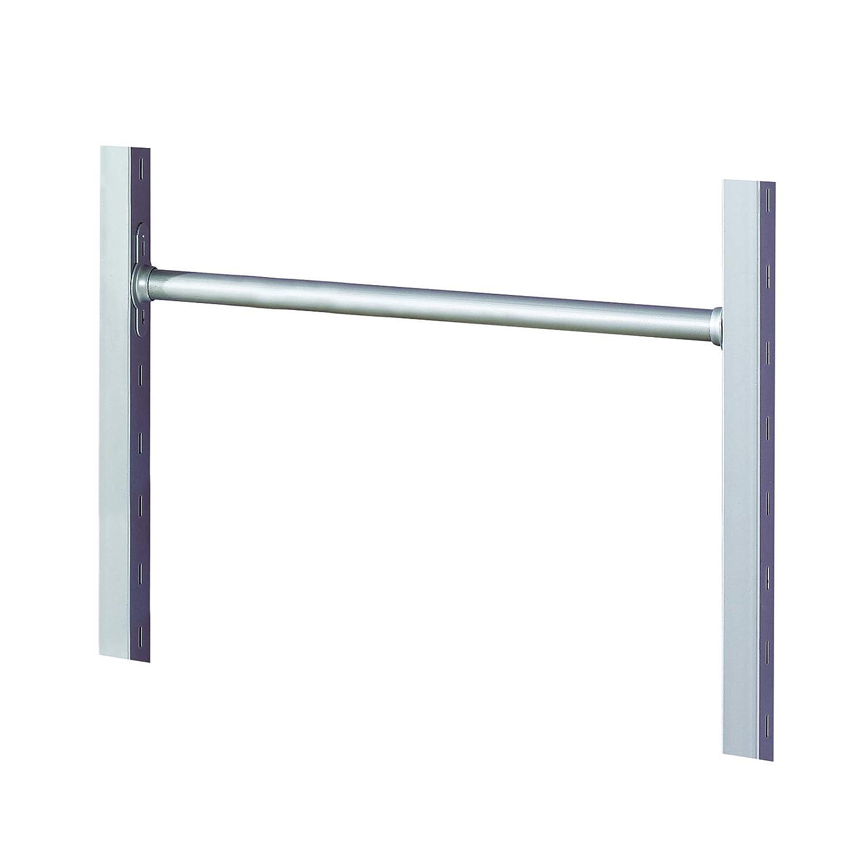 Metal Silver SpacePro Aura Fixed Length Hanger Bar 62.7x4.5x3.5 cm