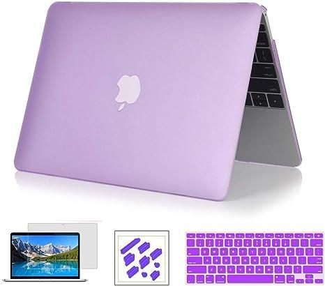 RYGOU Estuche rígido 4 en 1 con cubierta de teclado Protector de pantalla Compatible con MacBook Pro de 15